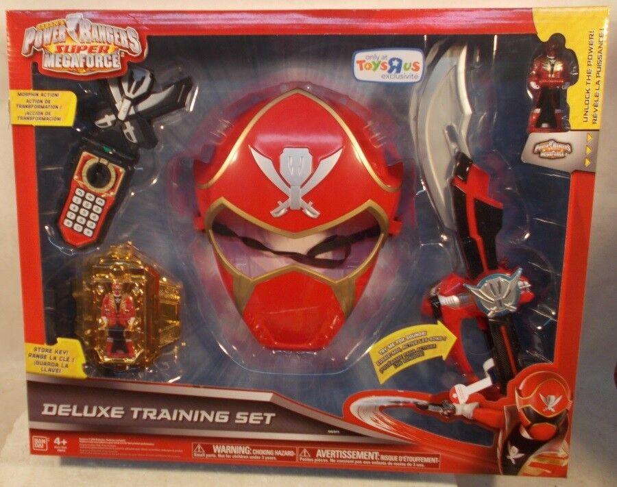Envío 100% gratuito Power Rangers Super Megaforce Tru Exclusivo De De De Lujo Rojo Ranger entrenamiento set sin usar y en caja sellada  venta con alto descuento