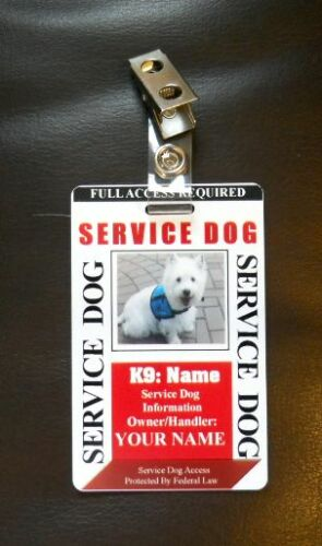 Badge for Service Dog Certified Working Dog Service Animal 28 Custom ID Card
