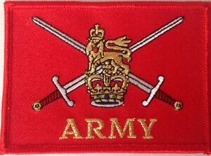 British-Army-crest-embroidered-cloth-badge-patch-Iron-or-sew-on-patch