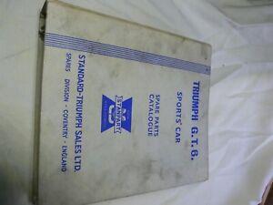 Triumph-GT6-mk1-2-worshop-parts-manual-in-nice-condition