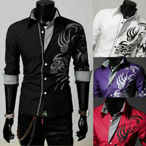 Fashion-Luxury-Men-Slim-Fit-Shirts-Long-Sleeve-Dress-Formal-Shirt-Casual-T-Shirt