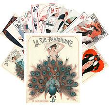 Postcards Pack [24 cards] La Vie Parisien Pinup Sexy Girl Leonnec Vintage CC1051
