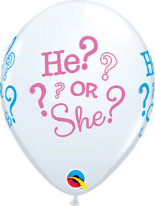 BABY-SHOWER-BALLOONS-10-x-11-034-BABY-SHOWER-HE-OR-SHE-QUALATEX-BALLOONS