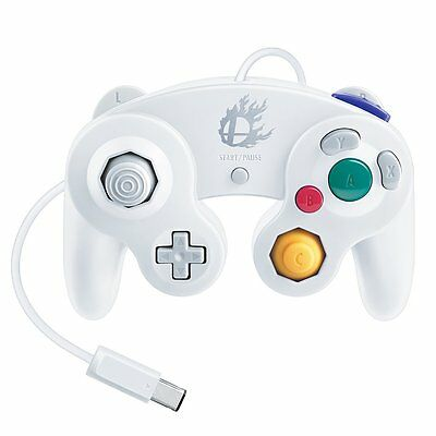Nintendo GAME CUBE Official Controller Smash Brothers White from Japan