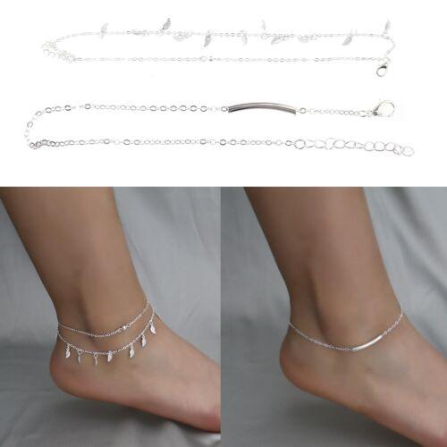16X Silber//Gold Erweitert Fußkettchen Armband Fußkette Kette Schmuck für Frauen