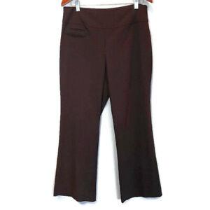 Reitmans Tire De Pantalones De Vestir Para Mujer Petite Talla 12 Grande Marron Stretch Carrera Ebay