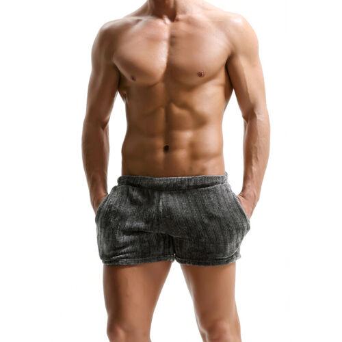 Homme Velours Côtelé Shorts Vintage Respirant Doux Trunk taille élastique poche latérale