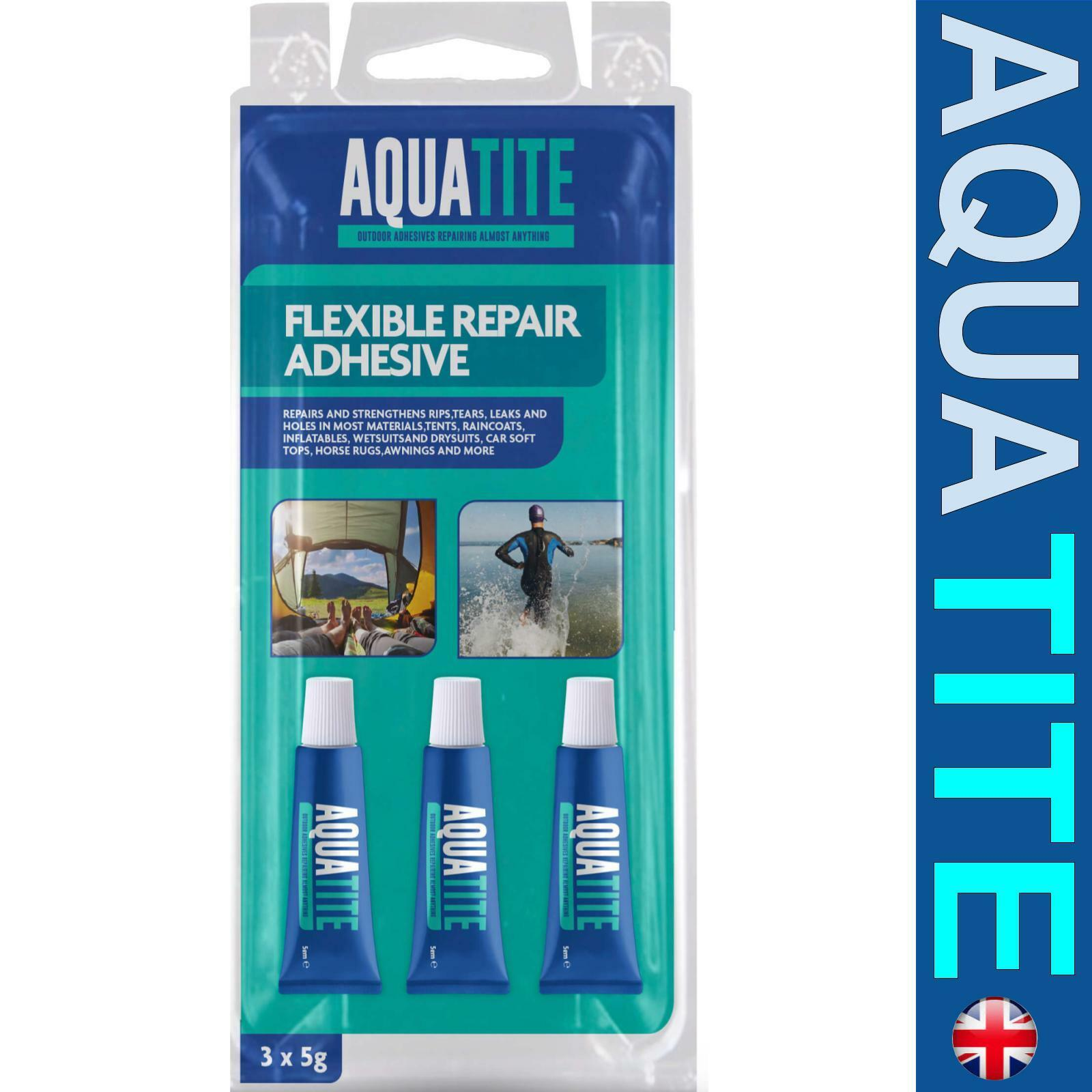 AquaTite Flexible Repair Adhesive Glue Repairs Mend Rips