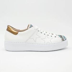low priced c3e87 07cff Dettagli su Tosca Blu scarpe donna Sneakers Flamenco con applicazioni e  stelle estate 2018