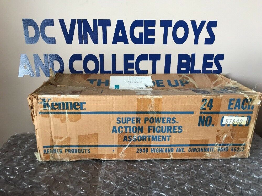 Vintage Kenner Super Powers  Action Figures Assortment  Empty Shipper Box Only