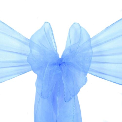 Pack of 10 ORGANZA SASHES Chair Cover Decor Fuller/'s Bow Ribbon Reception UK
