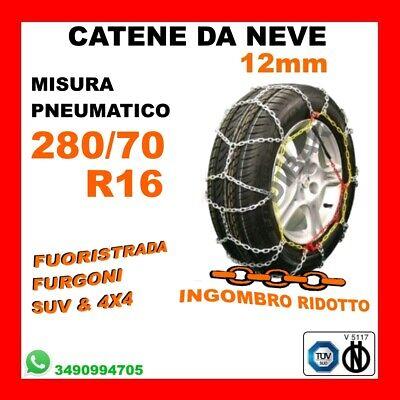 265//70r16 FURGONI GR.265 OMOLOGATE A ROMBO 16mm Misura CATENE DA NEVE 4x4-SUV
