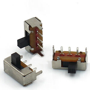 SPDT-1P2T-2-Position-3Pin-Horizontal-Slide-Switch-4mm-Shaft-with-Frame-SK12F14G4