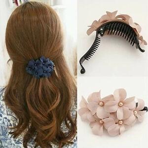 Women-039-s-Crystal-Flower-Rhinestone-Hair-Pins-Hairpin-Clip-Barrette-Lovely-Girl