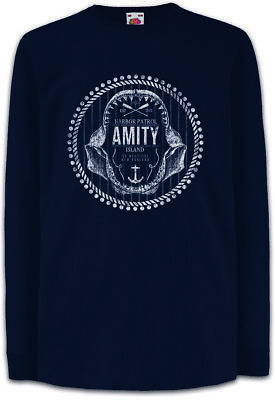 2019 Mode Amity Harbor Patrol Kinder Langarm T-shirt Jaws Quint Boat Brody Great White Kindermode, Schuhe & Access. T-shirts & Polos