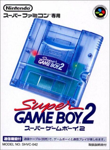 Nintendo Super Gameboy 2 Snes Sfc Go Transparent Bleu W / Suivi # Neuf Japon