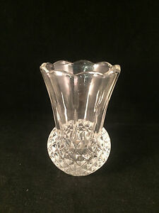 Scalloped-Glass-Vase-with-Diamond-Pattern-Base-5-034-Tall