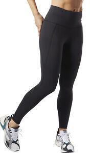 Détails sur Reebok Lux Taille Haute 2.0 Femme Longue Formation Collants Noir afficher le titre d'origine