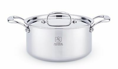 Hammer Stahl T316 Stainless Steel 4 Quart Stock Pot & Lid 7-Ply Induction  USA