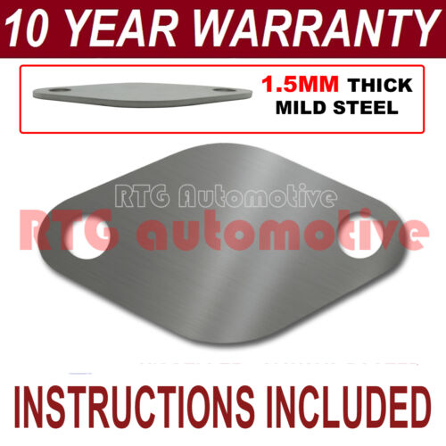 CITROEN C4 PICASSO C5 C8 DIESEL EGR VALVE BLANKING PLATE 1.5MM THICK STEEL ND
