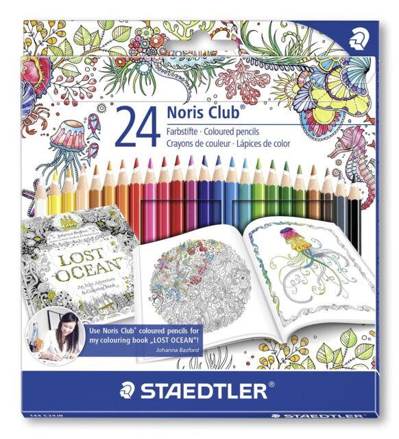 24 x Staedtler Noris Club Colouring Pencils 144 NC24JB - Johanna Basford Edition