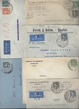 IRAQ 1930s COLLECTION OF SIX COVERS ALL FRANKED KING GHAZI ISSUE TO GERMANY AUST