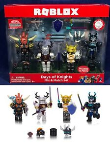 Knight Pack Roblox New Roblox Days Of Knights Mix Match Set 4 Pack Figures Accessories 10873 681326108733 Ebay