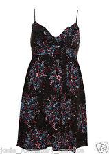 Topshop Firecracker Firework Babydoll Tea Dress 8 36 Summer Ruffle Bust Black