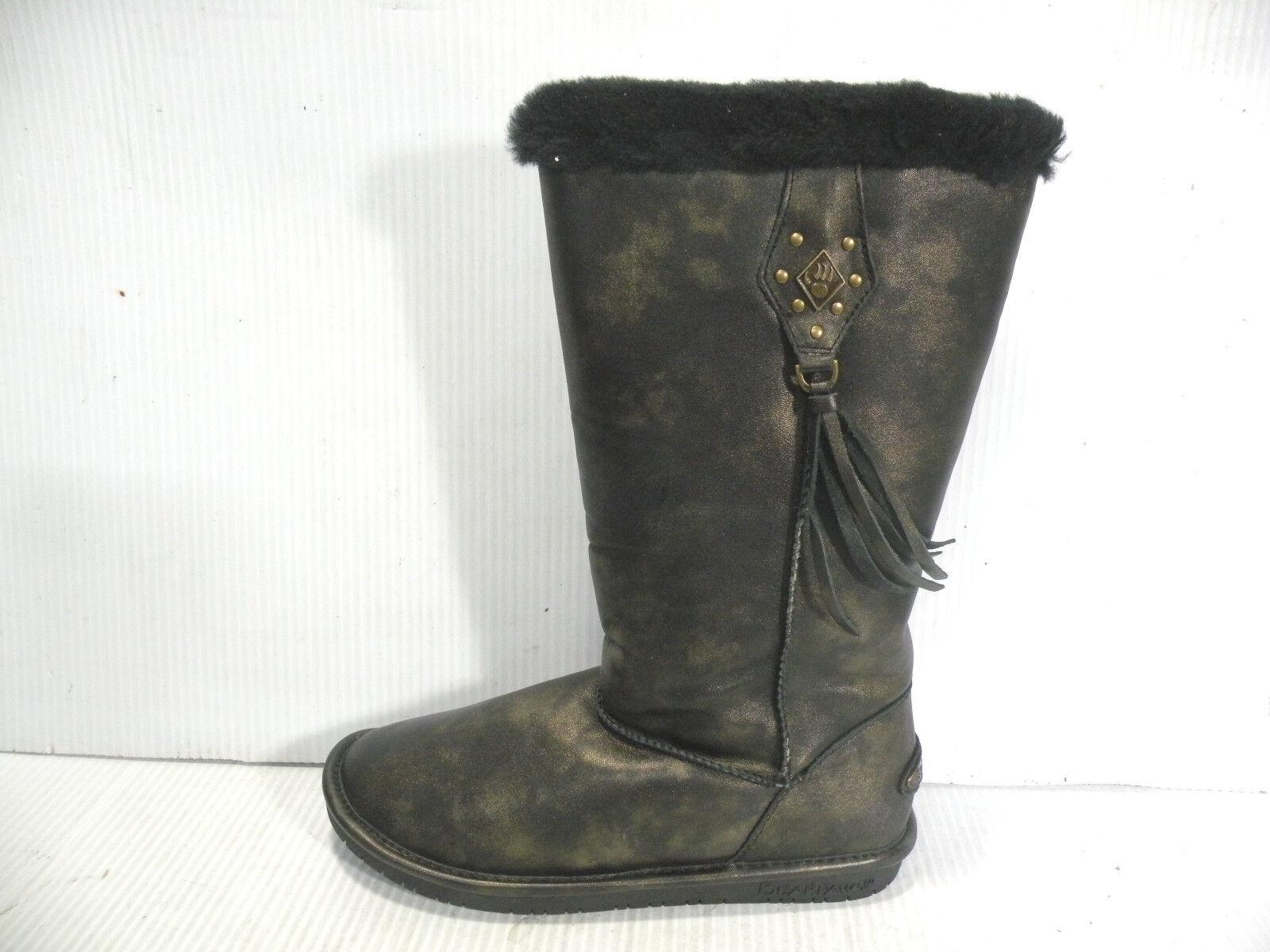Zapatos De Cuero Bearpaw botas Mujer Sidney humo oro 856W Nuevo