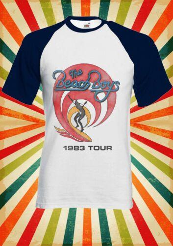 The Beach Boys 1983 Tour Surf Men Women Long Short Sleeve Baseball T Shirt 2372