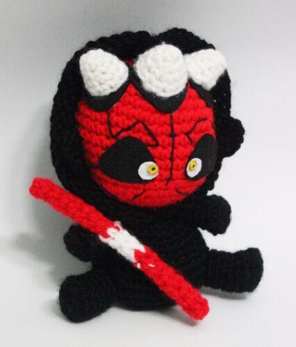 Darth Maul Star Wars Inspired Amigurumi Plushie Stuffed Toy Doll handmade gift