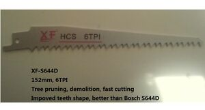 S644D-6TPI-152mm-Reciprocating-Saw-Blade-DEMOLITION-THICK-WOOD-PRUNING-Tree