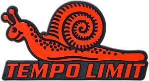 Auto-3D-Relief-Schild-rote-Schnecke-TEMPO-LIMIT-Emblem-Aufkleber-HR-Art-4829