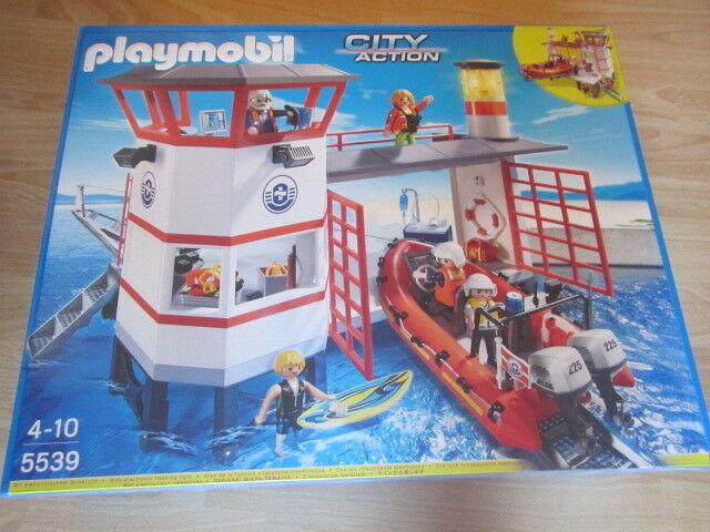 Playmobil CITY ACTION 5539 APPRODO DELLA GUARDIA COSTIERA CON FARO Nuovo new NIB