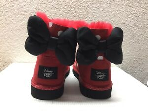 UGG 15694 DISNEY TODDLER MINNIE SWEETIE ROUGE BOW POLKA POINTS ROUGE KID/ TODDLER US 1/ EU 8593785 - vendingmatic.info