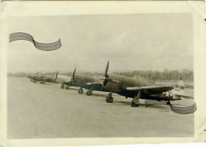 WWII USAAF P-47 Thunderbolt Fighter 348th FG New Guinea 1944 1 Original Photo