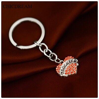 Nanny Pink Rhinestone Heart Lobster Clasp Charm in Organza Gift Bag