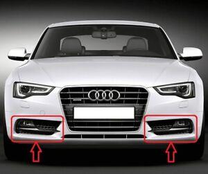 Genuine-Audi-A5-13-15-S-LINE-SPORT-EDITION-Parachoques-Parrilla-de-luz-de-niebla-izquierda-derecha