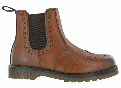 Brogue Leather Dealer Ankle Boots Catesby Twin Gusset Riding Equestrian Men Work