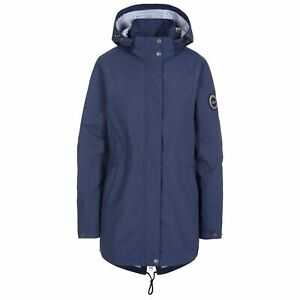 Trespass-Womens-DLX-Rain-Coat-Longline-Waterproof-Wind-Jacket-with-Hood-XS-XXL