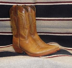 vasta selezione di 4b585 1de6e Dettagli su Stivali stivale texani country western cowboy donna line dance  beige marrone