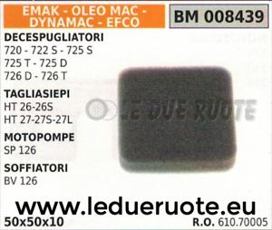 61070005 FILTRO ARIA SOFFIATORE DYNAMAC EFCO OLEOMAC BV 126 50x50x10
