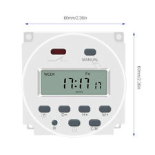 Dc 12v Timer Switch Onoff Weekly Programmable Lcd Digital Light Time Relay 16a