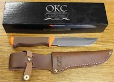 NEW Ontario Knife Company 7535 Seneca Hunter Fixed Blade Knife & Leather Sheath