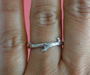 925-Sterling-Silver-Log-Branch-Ring-Band-Log-Wood-Branch-Ring-Jewelry