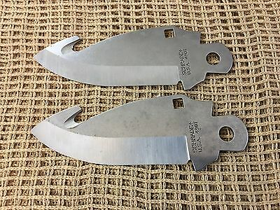 Lot of 2 490T Schrade USA Folding Knife Making Replacement Blade Blanks    eBay