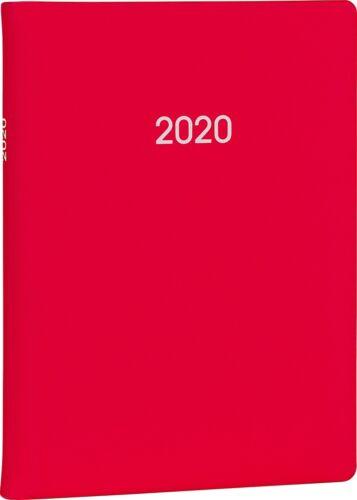Buchkalender Chefplaner A5 1 Tag 1 Seite auch sonntags neon-rot Soft-Einband