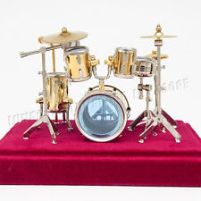 1:12 Jazz Drum Kit Set Musical Instrument Miniature Dollhouse Display Figure Toy
