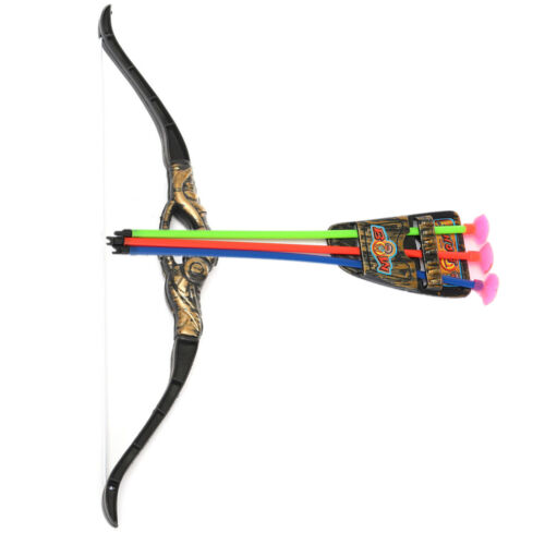 2 Set//Pack Kids Archery Bow and Arrow Toy Set with 3 Arrows Outdoor Garden