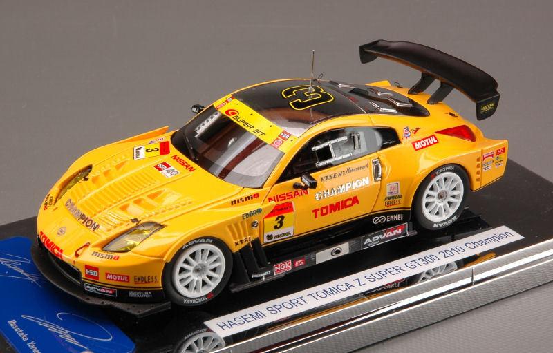 NISSAN Fairlady Hasemi SPORT Tomica Z Super GT 2010  3 CHAMPION 1:43 44505 ebbro